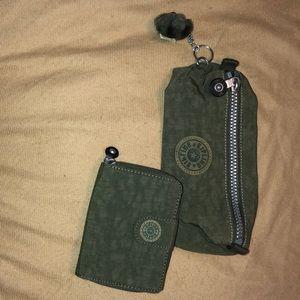 Kipling set of 2: wallet and pencil/brush case